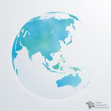 Fototapety Infographics Vector Background #World Map, Watercolor texture