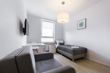 Modern and small sleeping room interior design