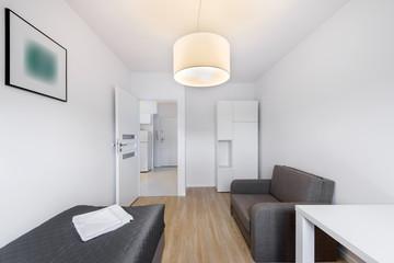 Compact, sleeping room for rental