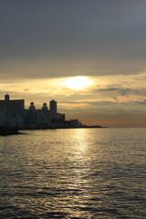 Havana Malecon at sunset
