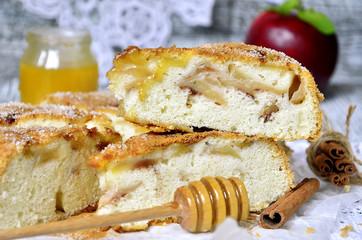 Pieces of apple pie.