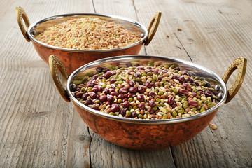 cereali e riso integrale biologiche