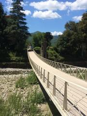 ponte sospeso sul fiume