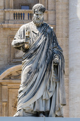 Saint Peter statue, Vatican city, Rome