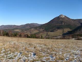 Clear day in Slovak hills Strazovske vrchy