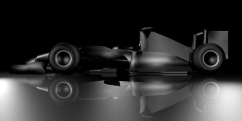 Black formula car