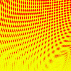 Abstract red halftone on yellow background