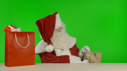 Santa Claus is Announcing that the SALE is Started