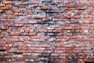Background of brick wall texture. Old red brick wall texture