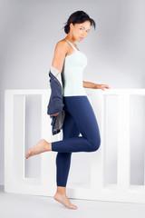 Fitness beautiful woman posing