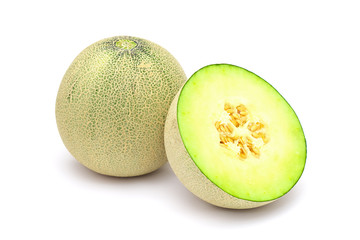 Musk melons isolated on white background
