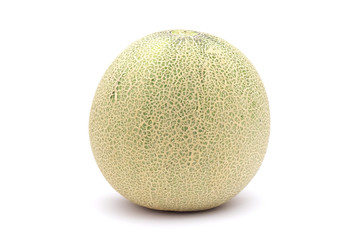A  musk melon isolated on white background