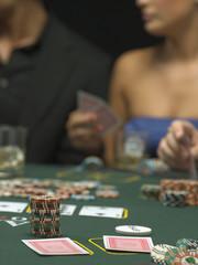 Detail of poker game