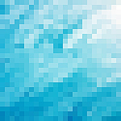 Turquoise abstract pixel background