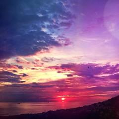 amazing sunset sea view