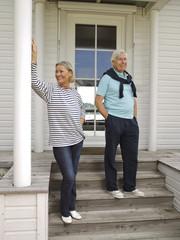 Senior couple on veranda