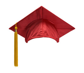 Red Graduation Hat Front