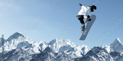 canvas print picture Snowboarding sport