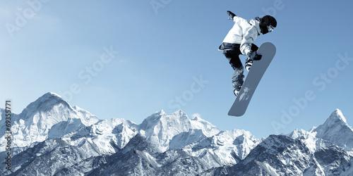 Foto op Plexiglas Wintersporten Snowboarding sport