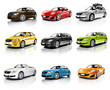 Collection of 3D Cars Isolated