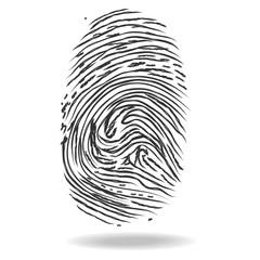 Fingerprints. Crime and safety concept