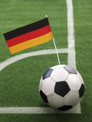 German Flag on Top of Soccer Ball