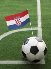 Croatian Flag on Top of Soccer Ball