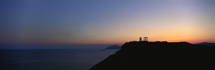 Sunset, Sounion, Greece