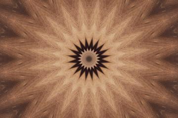 wood mandala with rays