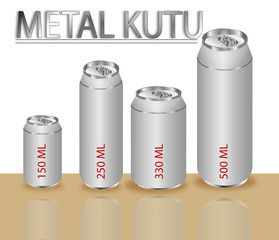 METAL KUTU,150,250,330,500 ML