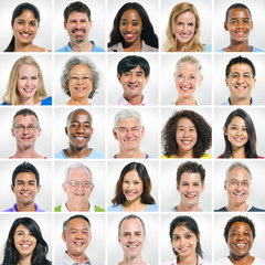 Multiethnic group of smiling people