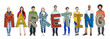 Multiethnic Group of People Holding Letter Marketing