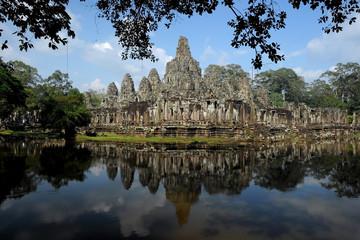 Bayon temple or Angkor Thom, Cambodia