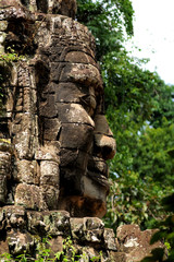 Face of The king at Angkor Wat, Cambodia