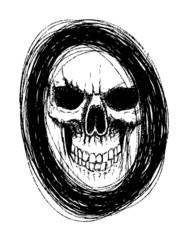 skull in circle