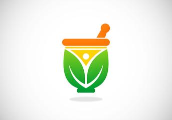 herb natural medicine vector logo