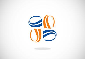 swirl circle abstract vector logo