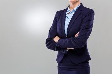 Businesswoman crossed arm