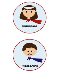 Donors are Superhero badge