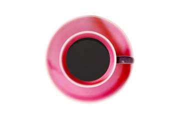 コーヒーカップ真俯瞰