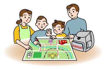 防災、家族で打ち合わせ「避難経路」