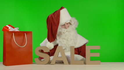 Santa Claus is Announcing that the SALE is Over