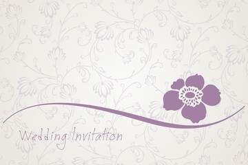 flower , wedding card design, India