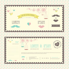 Vintage ticket for wedding party or anniversay celebrartion part