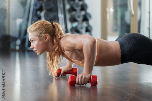 Workout in the gym