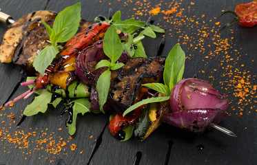Grilled vegetables with spices