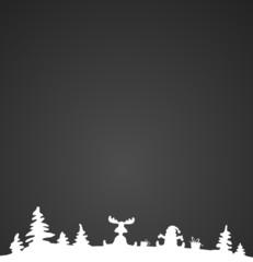 Hintergrund Weihnachten schwarz