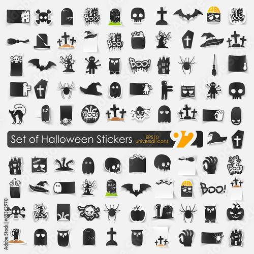 Set of halloween icons - 69362970