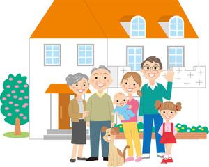 二世帯住宅家族