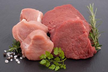 Rinder- und Schweinefiletmedaillons